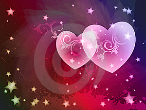 Valentine's Day Card,  Stock Images - Image: 18535504