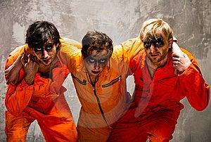 Three Guys In Orange Uniforms Stock Images - Image: 18544834