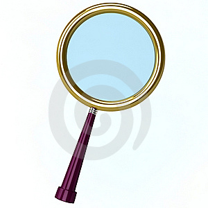 3d Illustration Of A Magnifying Lens Royalty Free Stock Image - Image: 18546016