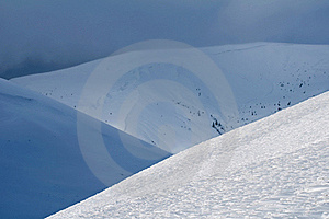 Snow-covered Mountains Stock Photography - Image: 18546602