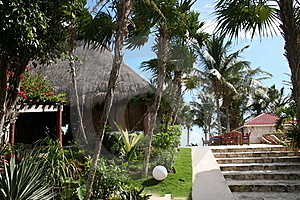 Holiday Resort In Tulum Beach - Mexico Royalty Free Stock Photography - Image: 18547237