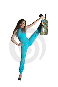 Girl With Purchases Royalty Free Stock Image - Image: 18547366