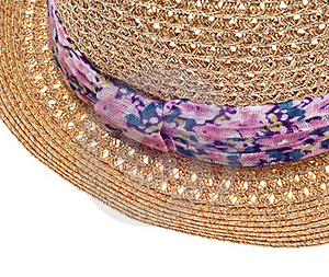 Summer Hat With Floral Pattern Close Up Royalty Free Stock Photo - Image: 18547715
