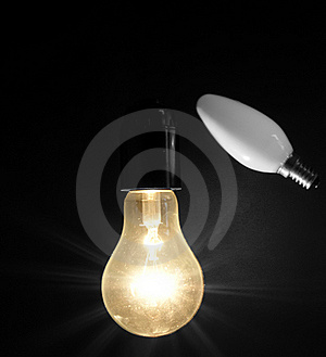 Large Brushed Electric Incandescent Lamp Royalty Free Stock Image - Image: 18548726