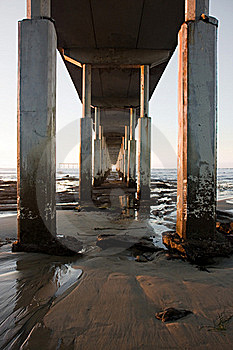 Underneath Pier Royalty Free Stock Image - Image: 18551786