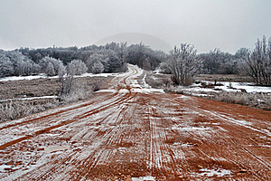 A Dirt Road In February Stock Images - Image: 18552314