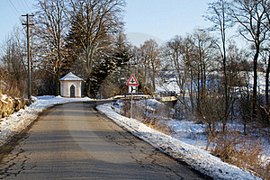 Winter Road On A Sunny Frosty Day Stock Photography - Image: 18552672