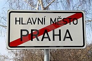 Tschechische Hauptstadtbegrenzungen Stockfoto - Bild: 18552820