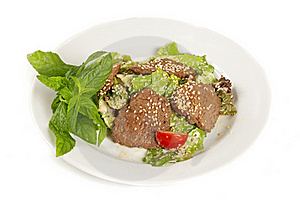 Sesame Beef  With Vegetables Royalty Free Stock Image - Image: 18552846