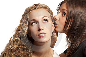 Girlfriends Sharing Their Secrets Stock Image - Image: 18552851