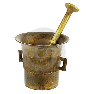 Old Mortar And Pestle Royalty Free Stock Photo - Image: 18556995