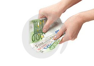 Close-up  Euro Banknote In Hand Stock Images - Image: 18561024