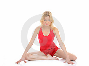 Fitness Woman Doing Stretching Exercise Royalty Free Stock Image - Image: 18561106