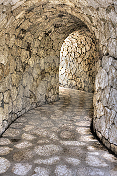 Stone Tunnel Stock Images - Image: 18563524