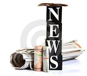 Money In Media Stock Image - Image: 18565101