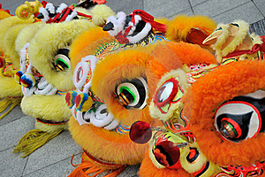 Property Lion In Chinese Traditional New Year Stock Images - Image: 18567874
