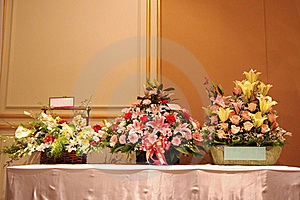 Three Flower Baskets Stock Photography - Image: 18568572