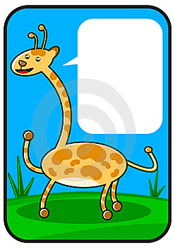 Cartoon Giraffe Stock Photography - Image: 18570642