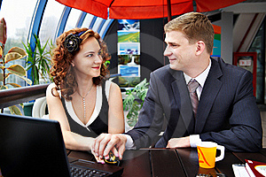 Young Man And Woman Looking Each Others Royalty Free Stock Photos - Image: 18570758