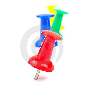 Colorful Push pin Stock Image