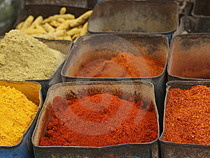 Colorful Indian Spices Royalty Free Stock Images - Image: 18582869