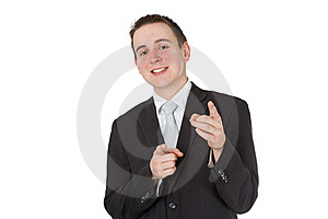 Friendly Businessman Royalty Free Stock Image - Image: 18583626