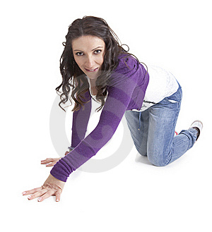 Young And Seductive Woman Stock Photos - Image: 18585613