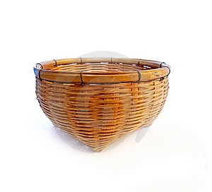 Vintage Brown Weave Wicker Basket Stock Image - Image: 18586411