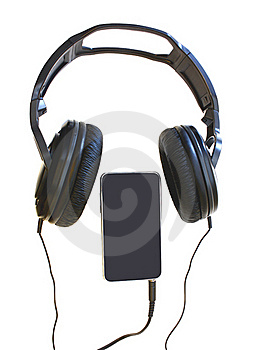 A Headset And A Mp Player Stock Image - Image: 18590631