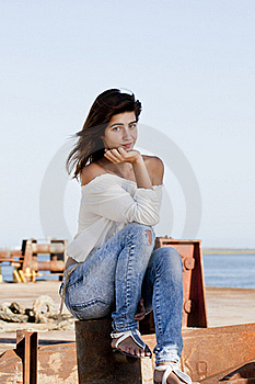 Sitting On The Docks Royalty Free Stock Photo - Image: 18594675