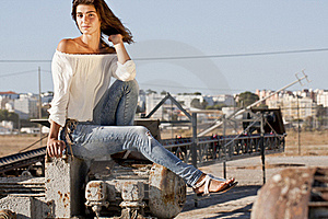Sitting On The Docks Royalty Free Stock Images - Image: 18594729