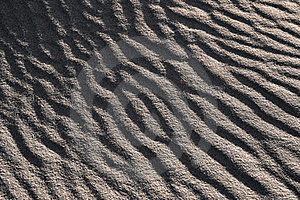 Sand Waves Black And White Stock Images - Image: 18596084