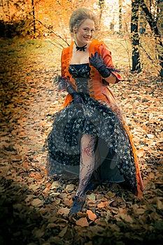 Baroque Girl Outdoor Stock Image - Image: 18599581