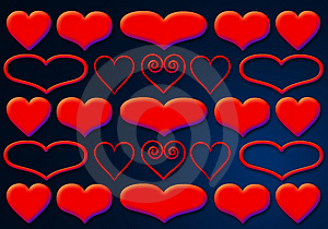 Luscious Hearts 1 Royalty Free Stock Image - Image: 1864186