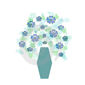 Bouquet In Blue Vase Royalty Free Stock Photos - Image: 1867658