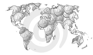 World Of Money B&W- Euros Royalty Free Stock Photos - Image: 1868038