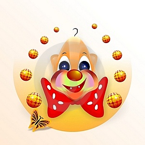 Smiling Clown, Cdr Vector Royalty Free Stock Images - Image: 18600749