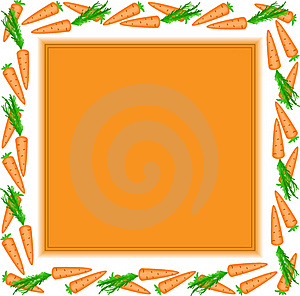 Orange Frame Of Carrots Stock Images - Image: 18605434