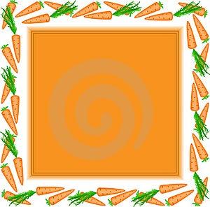 Orange Frame Of Carrots Stock Images - Image: 18605434