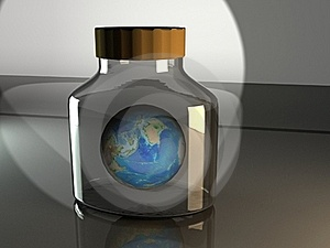 Earth In A Bottle Royalty Free Stock Images - Image: 18607929