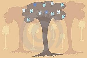 Tree On Beige Background Stock Images - Image: 18608994