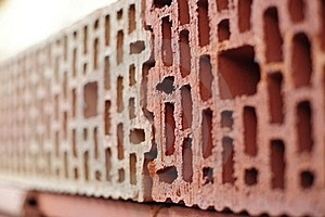 Bricks In Wall Stock Image - Image: 18617201