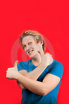 Positive Young Man Royalty Free Stock Photos - Image: 18619288