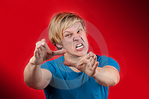 Gniewny Mężczyzna Fotografia Stock - Obraz: 18619312