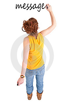 Teen Girl Write Royalty Free Stock Photo - Image: 18620765
