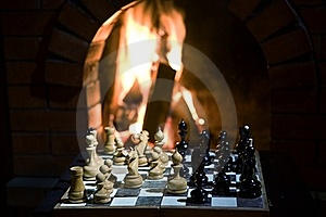 Chess Fireplace Stock Image - Image: 18624591