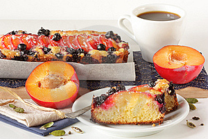 Fruitcake And Cup Of Coffee. Royalty Free Stock Photos - Image: 18624868