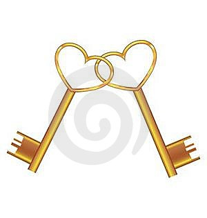 Golden Key Opens The Heart Royalty Free Stock Photography - Image: 18625897