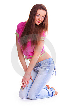 Beautiful Brunette Royalty Free Stock Images - Image: 18627079