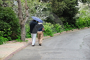 Couple Under Rain Stock Photo - Image: 18629590